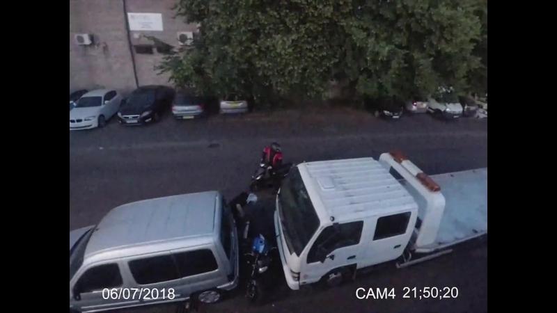 Попытка угнать мотоцикл