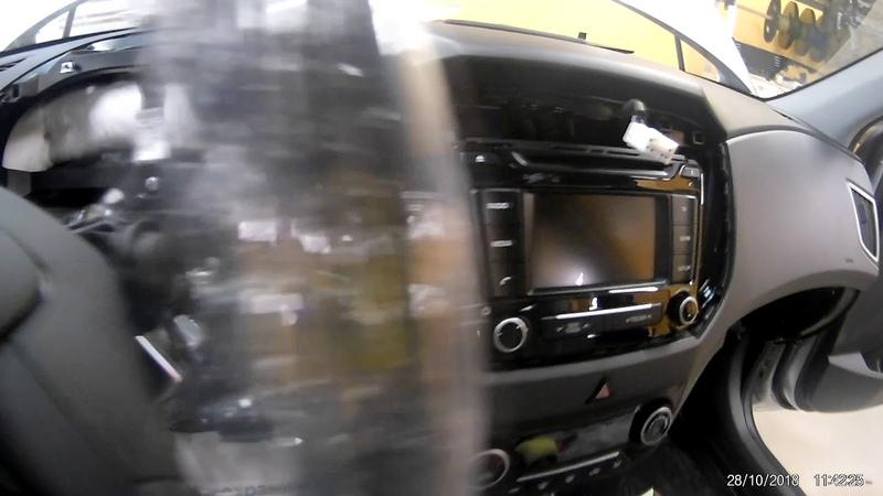 Защита от угона Hyundai Creta Пример разбора салона для скрытной установки