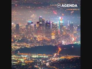 Лос-анджелес в новогоднюю ночь