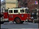 FDNY 1991 Seagrave 100' Tiller L118 responding 2