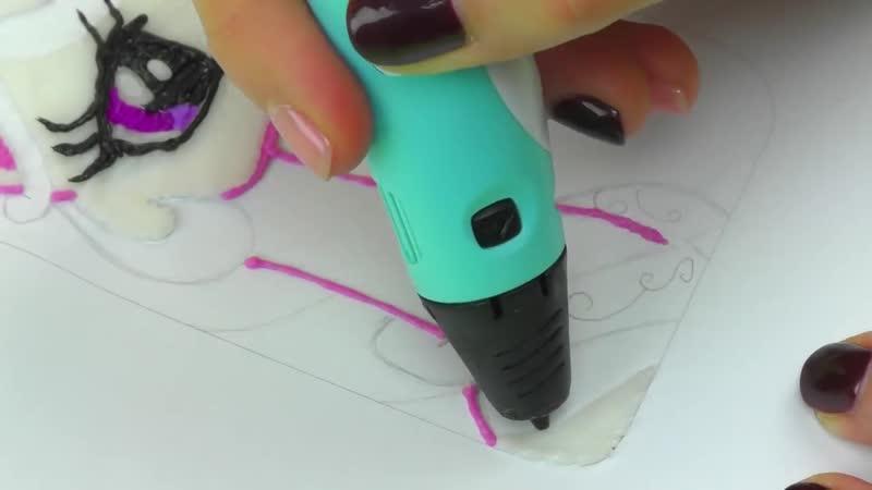 РИСУЕМ 3D РУЧКОЙ чехол для телефона с принцессой Селестия