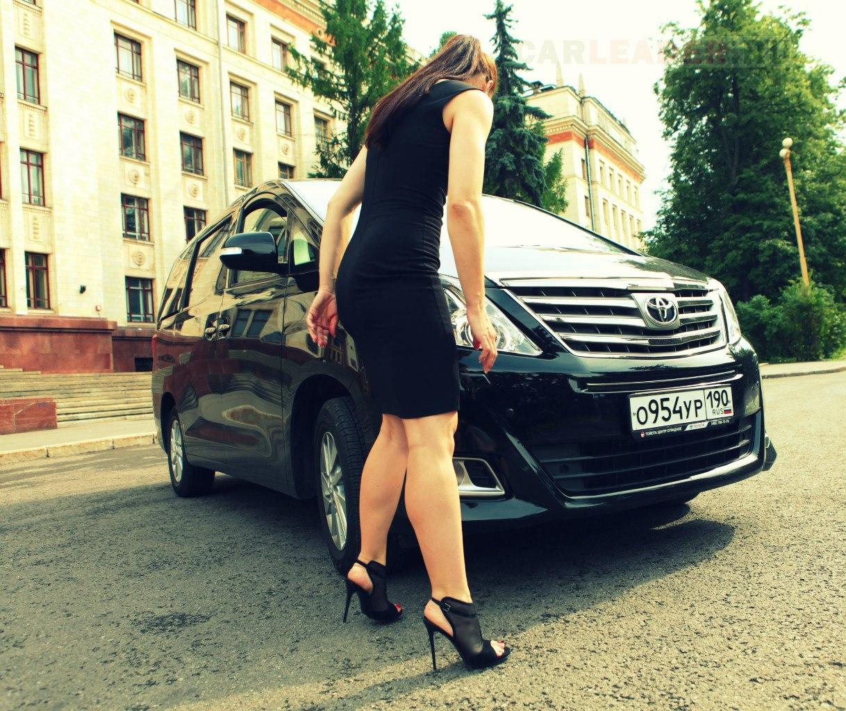 russian girl Toyota Alphard