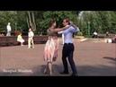 Красивая пара танцует танго! Brest! Music! Dance!