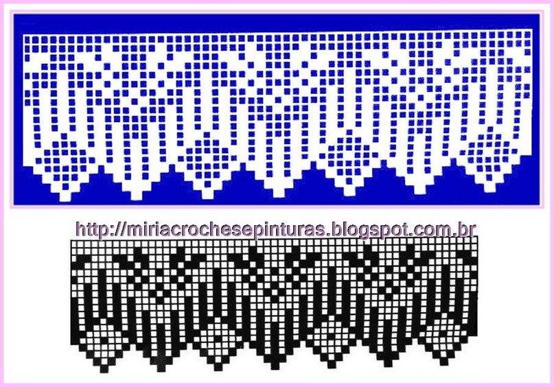Филейное вязание бордюры 55