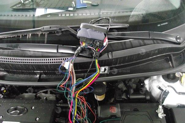 Установка сигнализации с автозапуском на солярис своими руками