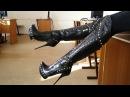 GIANMARCO LORENZI platform high heels fetish boots 39 size STIEFEL