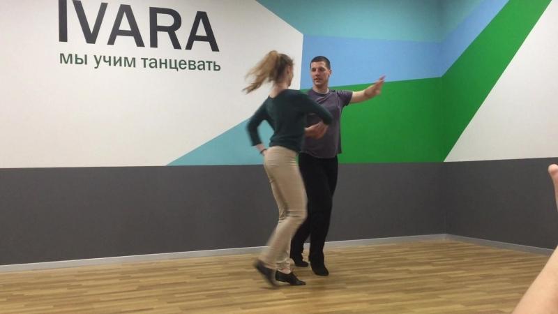 Видео с занятия Дискофокс — базовый курс. Александр Тагиров и Екатерина Солодилова. 2018.06.05
