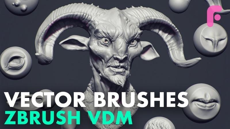 Making Custom Vector Brushes (VDM) in ZBrush