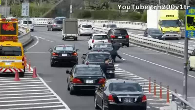 Картеж премьера министра Японии вливается в траффик