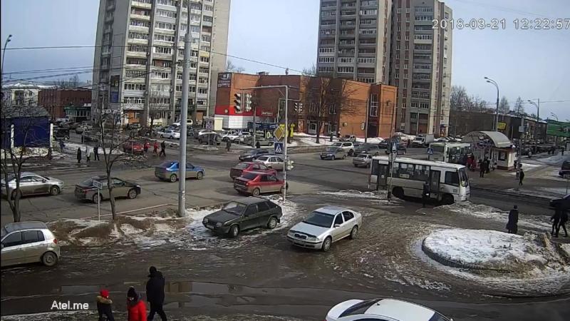 Автобус сбил женщину Рыбинск 21,03,2018