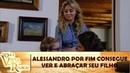 Alessandro (Kevin Carpenter) conhece seu filho Laurinho (Noah Rivera)