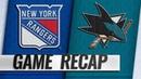 Rangers prevail against Sharks in wild SO win
