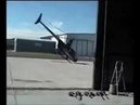 Helicopter Close Call Take Off with Robinson R44 Raven II Near Rotor Strike Accident at Airfield
