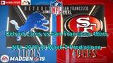 Detroit Lions vs San Francisco 49ers NFL 2018-19 Week 2 Predictions Madden 19