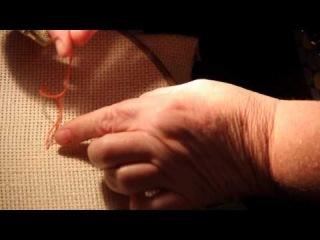 Как  вышивать крестиком без узелков