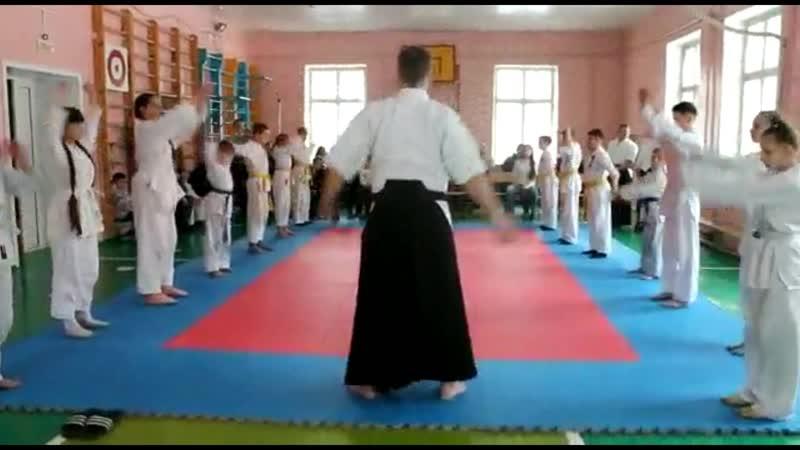 1 Открытый урок Айкидо 18 марта 2018 г., Разминка | 合気道 | Aikido