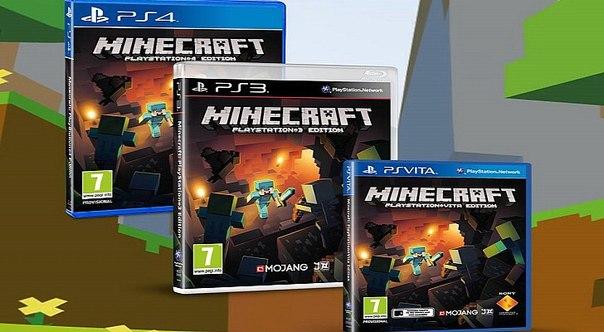 minecraft playstation 4 купить