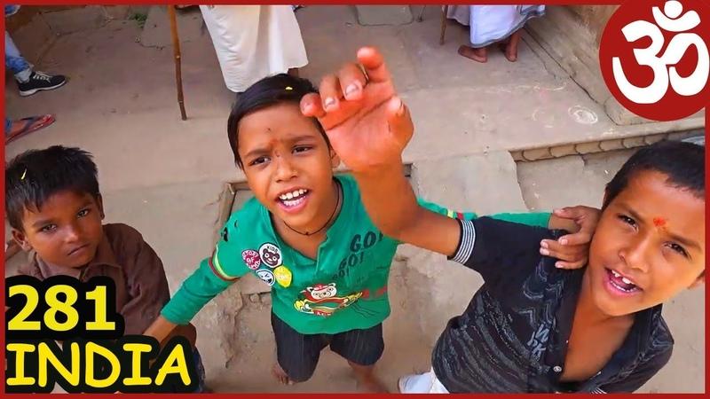 INDIA Вриндаван. Джайпурский Храм Виды с дрона. Здесь как в компьютерной игре!