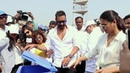 Ajay Devgn Kajol Support An Social Campaign 'Start A Little Good' In Mumbai