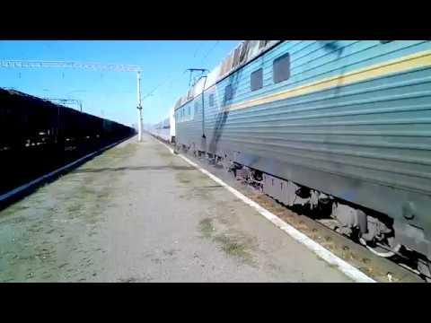 Електровоз Чс8-013 з Інтерсіті №763 Київ-Одеса ст.Фастів-1