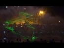 Лазерное шоу на прудах в Хабаровске.