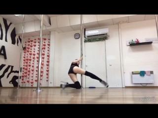 Pole Exotic ученица Марина