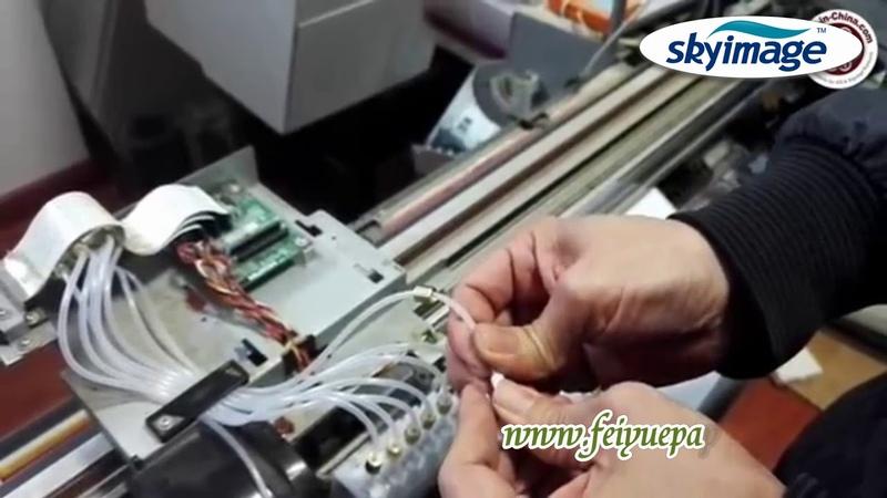 Как установить демпферные детали на широкоформатный струйный принтер