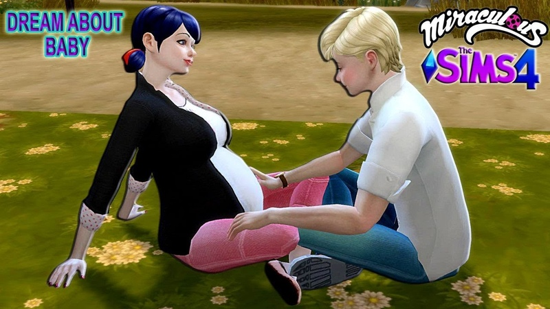 THE SIMS 4 Miraculous Ladybug Dream about Baby with Adrien