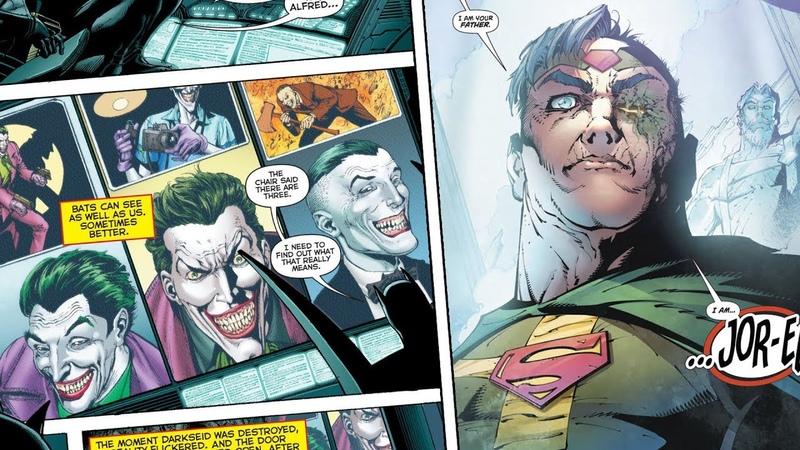 Что там с тремя Джокерами отцом Супермена и Хранителями DC Перерождение