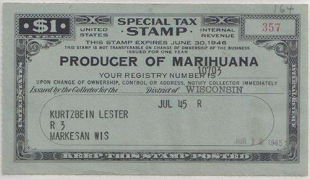 Борьба с марихуаной в США