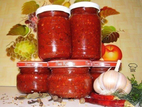 Аджика: 17 рецептов на любой вкус Рецепт №1 Ингредиенты