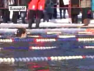 Соревнования моржей в Мурманске - 2014