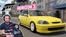 Цивик в надежных руках🤙 Forza Horizon 3 на руле Logitech G25
