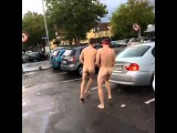 Running naked in public with Batman & Spiderman masks on! Vine by Alexander Holtti