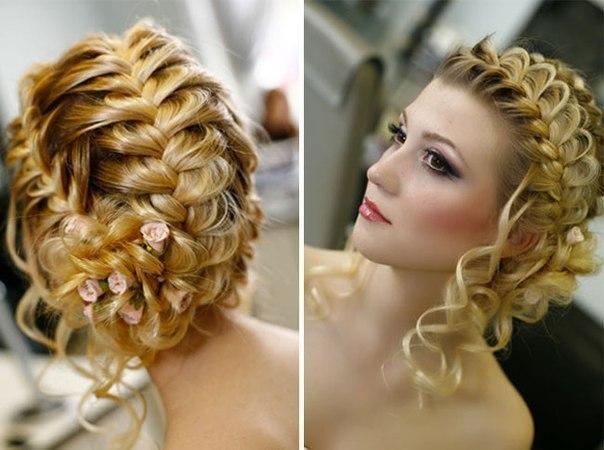 Плетение кос с элементами причесок