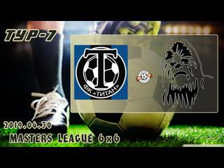 Титан v/s чубакка (7 тур). football masters league 6x6. full hd. 2019.06.30