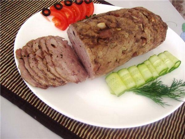 Домашняя ветчина Ингредиенты 600г мяса курицы 1 зубок чеснока 1ст.л. с