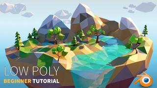 Low Poly Island | Beginner | Blender 2.8 Tutorial