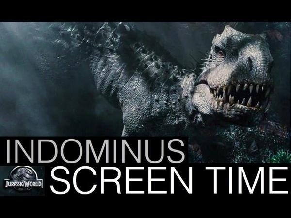 Jurassic World- Indominus Rex Screen Time (All Scenes)