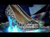 Эксклюзивные свадебные туфли. Камни. Код 4-107