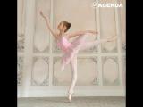 13-летняя Яна Черепанова балансирует на диске