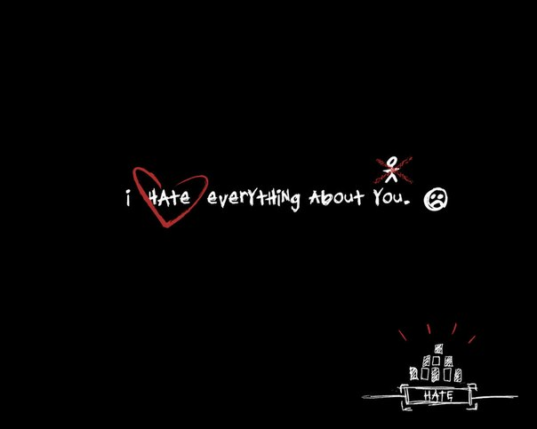 Hate everything about you you hate everything about me