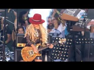 Richie Sambora and Orianthi - Dead Or Alive - Livin On A Prayer - Live in Sydney - 2016 NRL Final