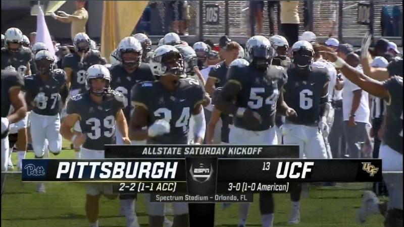 NCAAF 2018 Week 05 Pittsburgh Panthers 13 UCF Knights 1Н EN