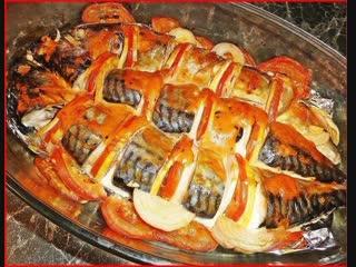 СКУМБРИЯ В ФОЛЬГЕ ...Быстрый ужин! Самый простой рецепт приготовления скумбрии. Рыба готовится просто, быстро, но получается оч