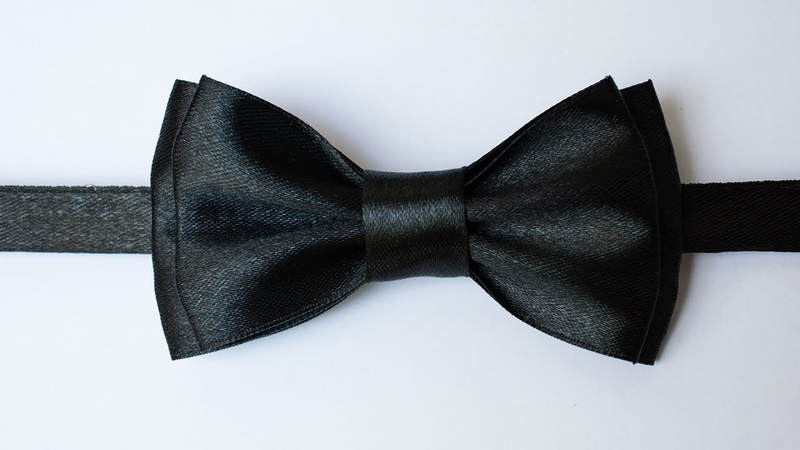 Галстук-бабочка своими руками из атласной ленты / Bow tie with your own hands from satin ribbon