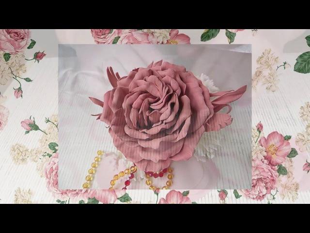 Болотова Евгения_Роза из плотного фома