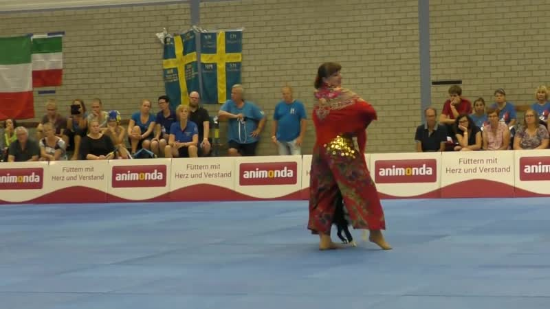 Dogdance World Championship. Final. Freestyle. Ludmila Eibogina and border colli (3)