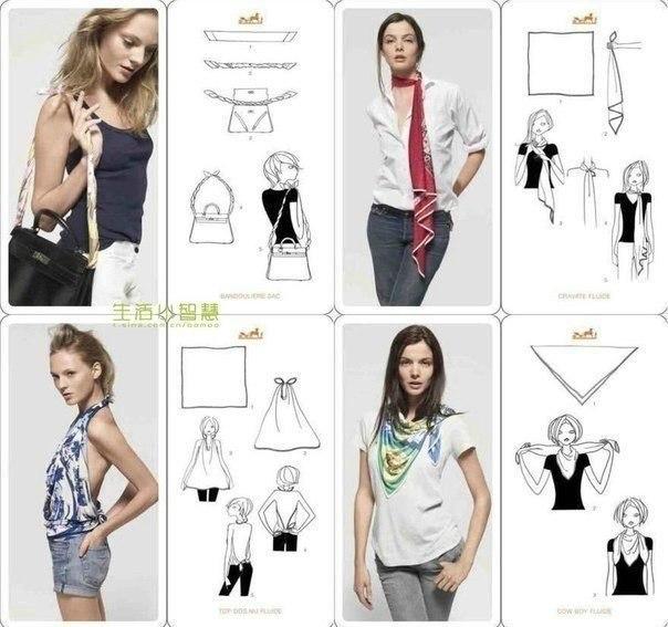 Варианты повязывания и ношения павловопосадских платков. Как носить платки. Как завязать платок. - Страница 2 XcSGyGvvLaQ