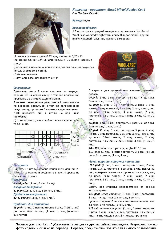 Схемы вязания капюшонов для мужчин